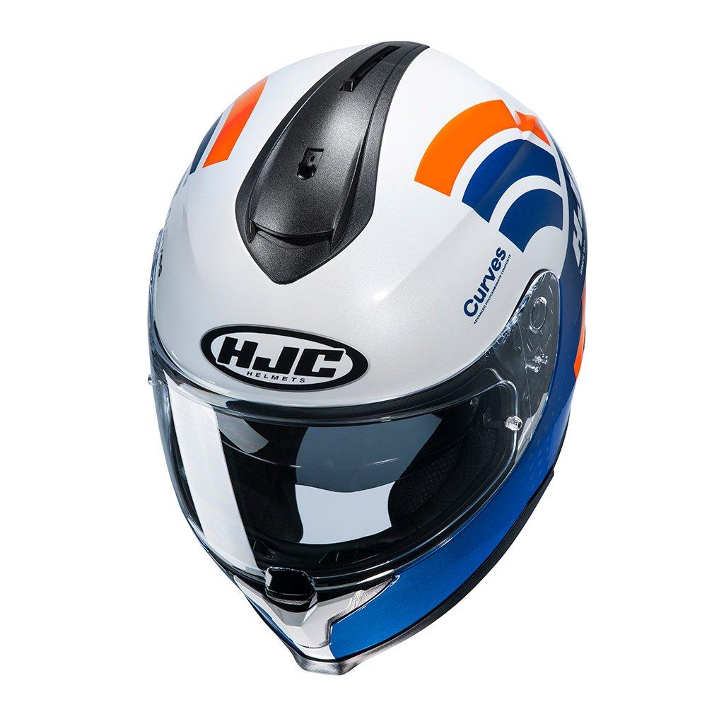 HJC C70 Curves Helmet White Red Blue Size: S