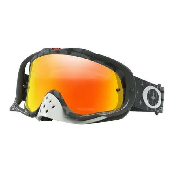 Crowbar TLD MX Goggle Megaburst Black Fire Iri Lens Oakley Goggles