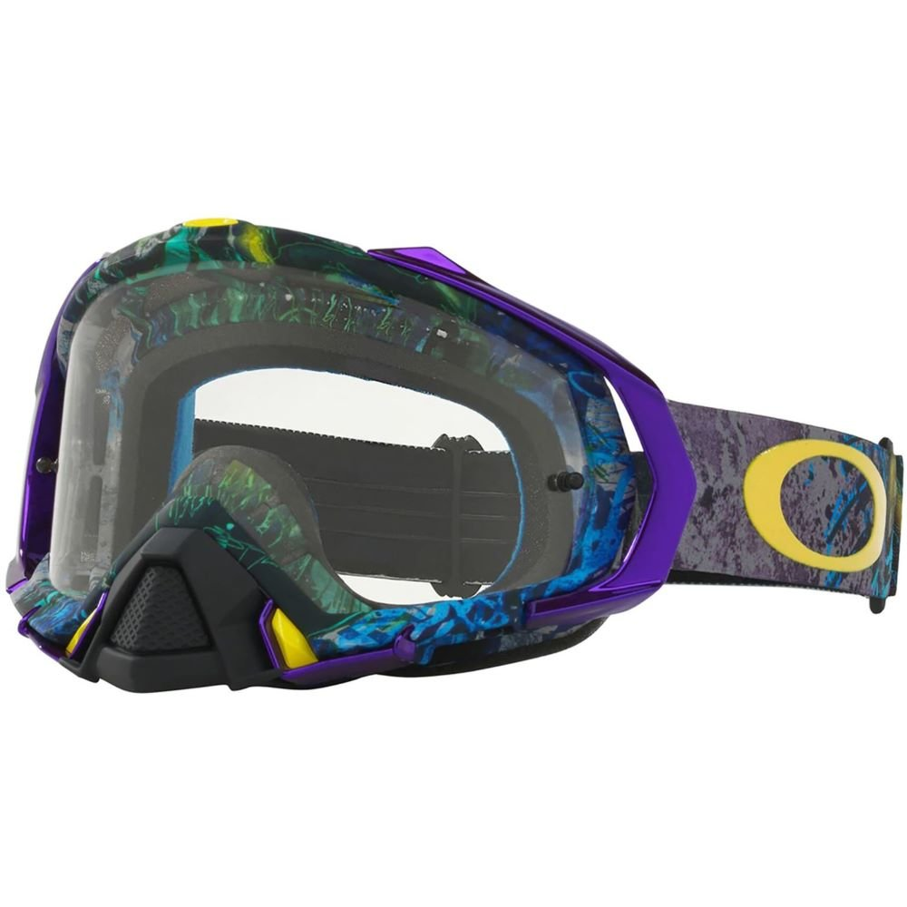 Mayhem Pro MX Goggle Skull Pipe Blue Clear Lens Oakley Goggles