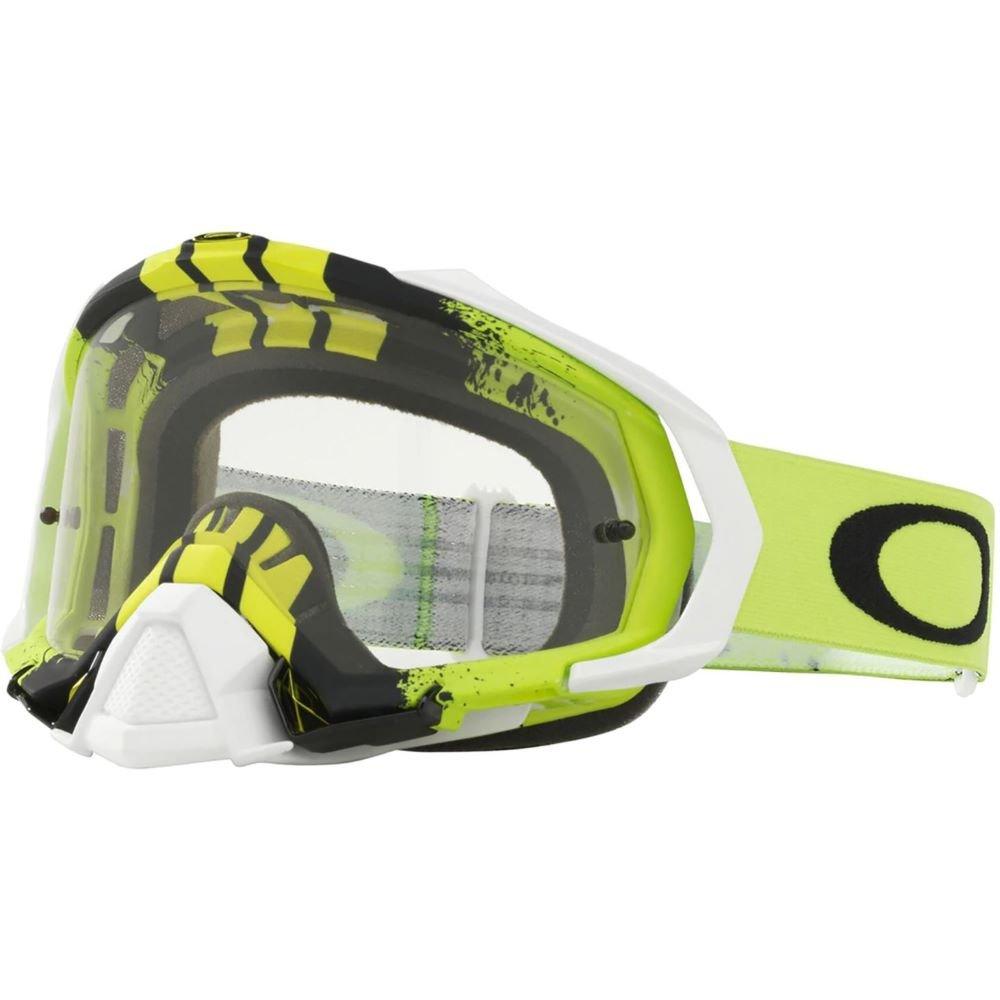 Mayhem Pro MX Goggle Pinned Race Green Yellow Clear Lens Oakley Goggles