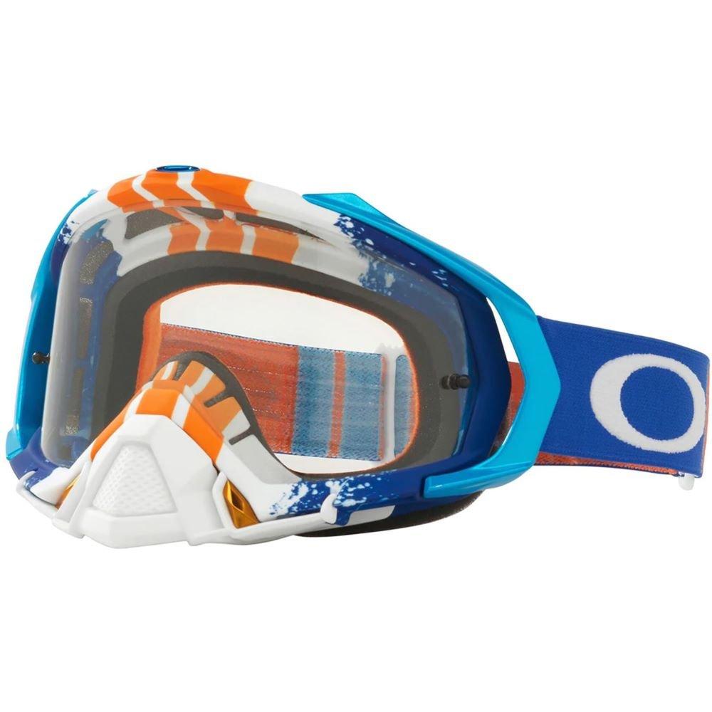 Mayhem Pro MX Goggle Pinned Race Blue Orange Clear Lens Oakley Goggles