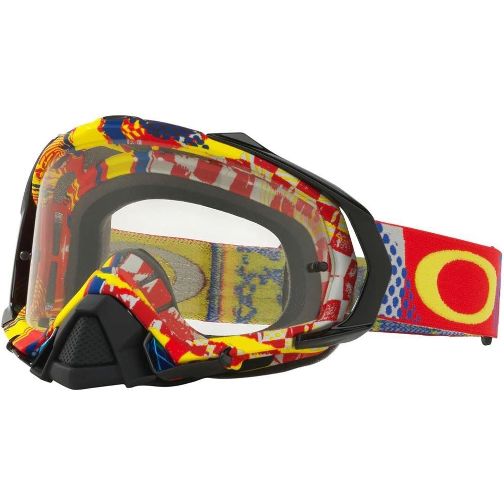 Mayhem Pro MX Goggle Mosh Pit Red Blue Clear Lens Oakley Goggles