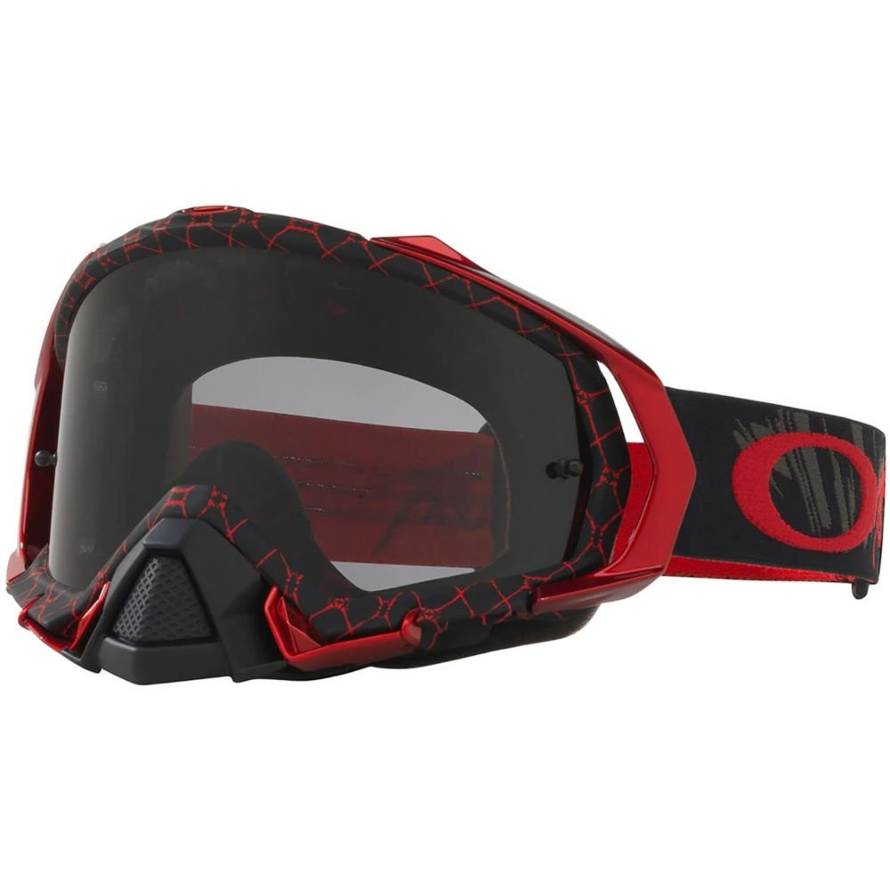 Mayhem Pro MX Goggle Reaper Blood Red Dark Grey Lens Oakley Goggles