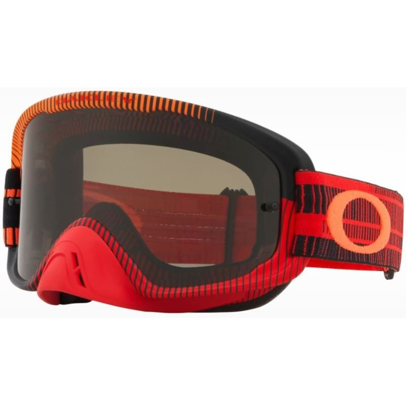 O Frame 2 Pro MX Goggle Frequency Orange Red Dark Lens Oakley Goggles