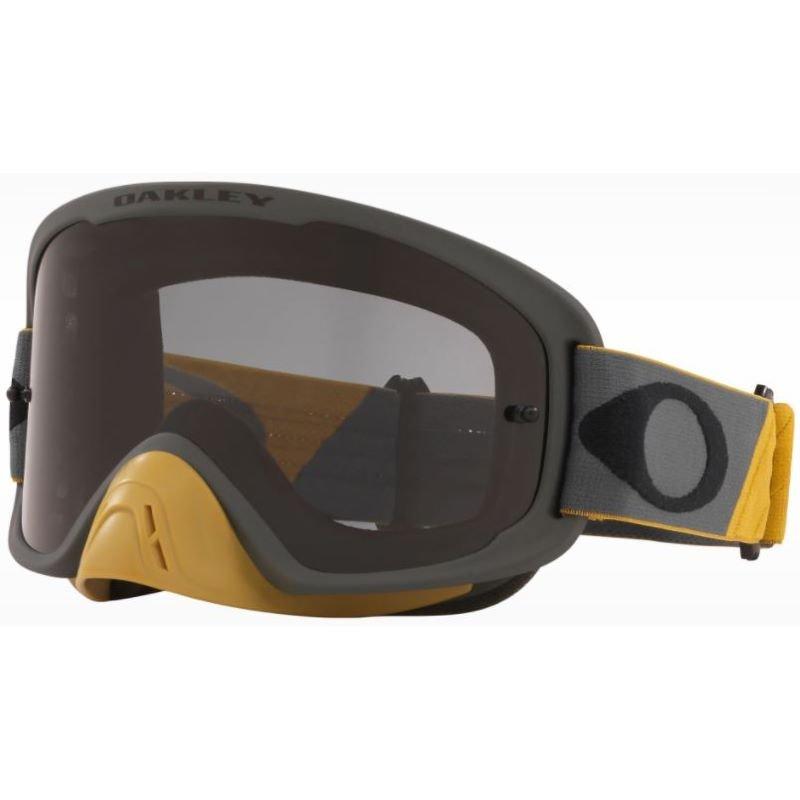 O Frame 2 Pro MX Goggle Tuff Blocks Gun Gold Dark Grey Lens Oakley Goggles