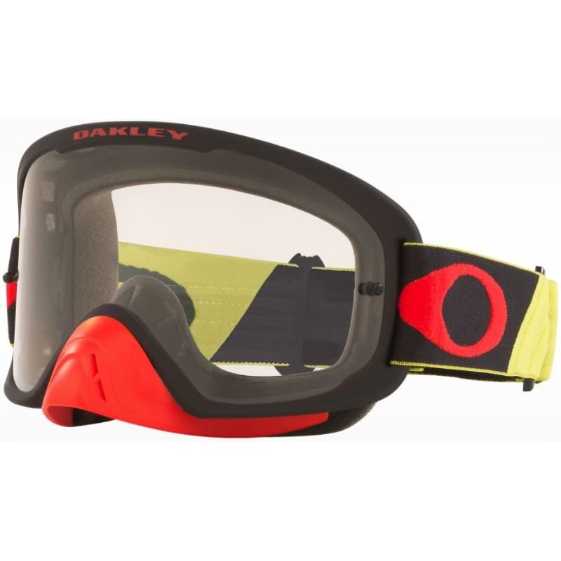 O Frame 2 Pro MX Goggle Tuff Blocks Yellow Red Clear Lens Oakley Goggles