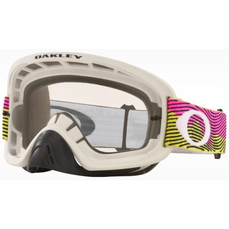 O Frame 2 Pro MX Goggle Rut City Pink Green Clear Lens Oakley Goggles