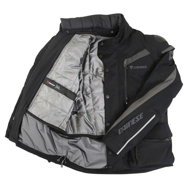 Dainese Carve Master Goretex Jacket Black Gray Mens - 38