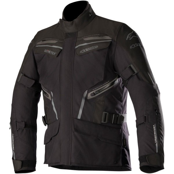 Alpinestars Patron Goretex Black Waterproof Motorcycle Jacket Front