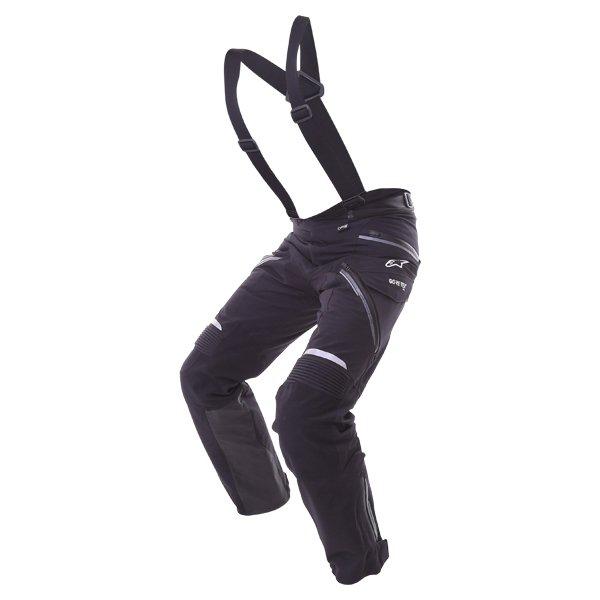 Alpinestars Big Sur Pro Mens Black Goretex Waterproof Textile Motorcycle Pants Riding position