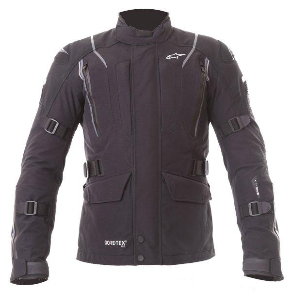 Alpinestars Big Sur Tech Air Gore-Tex Black Waterproof Motorcycle Jacket Front