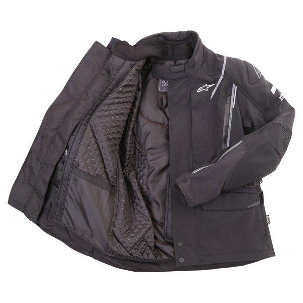 Alpinestars Big Sur Tech Air Gore-Tex Black Waterproof Motorcycle Jacket Inside