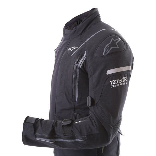 Alpinestars Big Sur Tech Air Gore-Tex Black Waterproof Motorcycle Jacket Compatible With Tech-Air Street Vest
