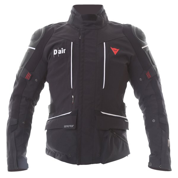Dainese Cyclone D-Air Black White Leather Motorcycle Jacket Front