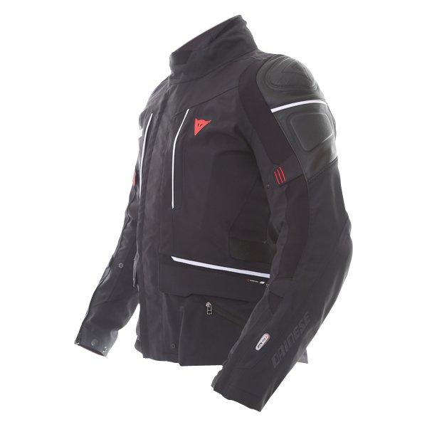 Dainese Cyclone D-Air Goretex Black White Waterproof Motorcycle Jacket Side
