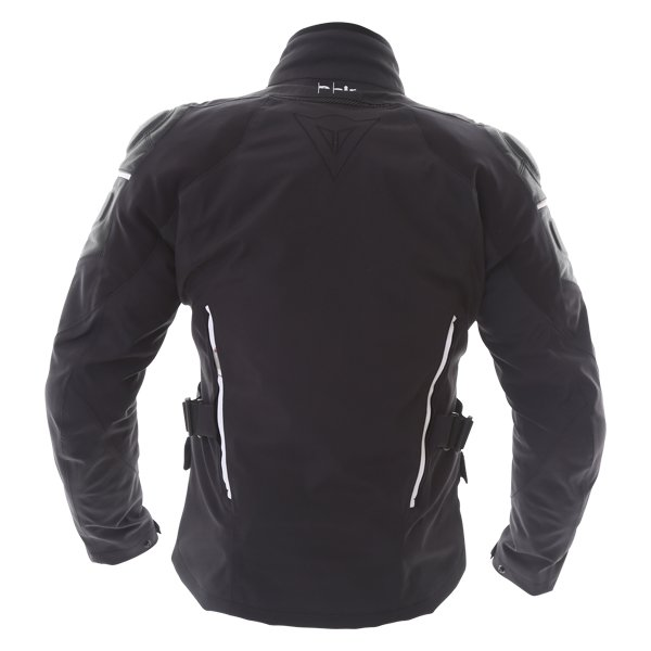 Dainese Cyclone D-Air Black White Leather Motorcycle Jacket Side