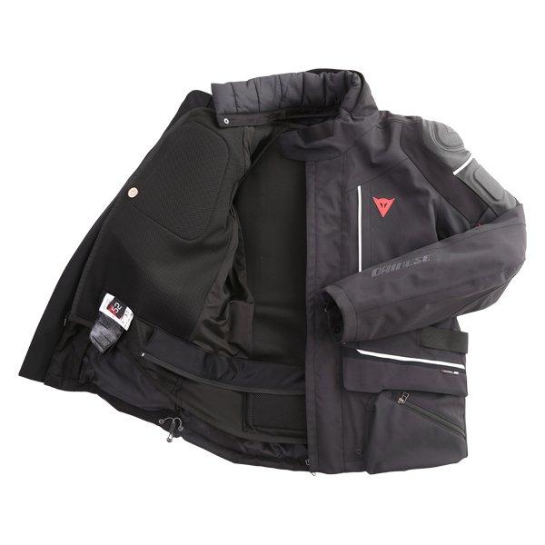 Dainese Cyclone D-Air Goretex Black White Waterproof Motorcycle Jacket Inside
