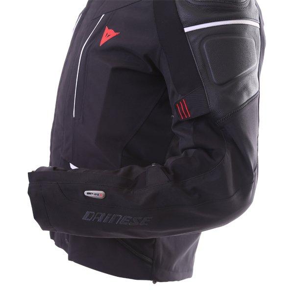 Dainese Cyclone D-Air Goretex Black White Waterproof Motorcycle Jacket D-Air Detail