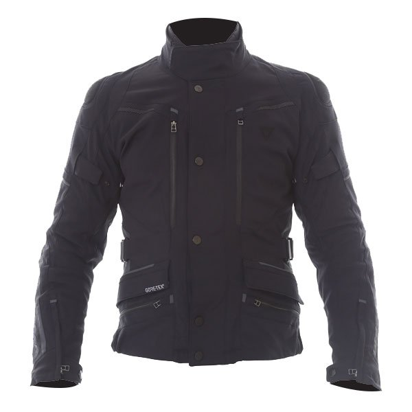 Dainese Carve Master 2 Mens Black GoreTex Waterproof Textile Motorcycle Jacket Front