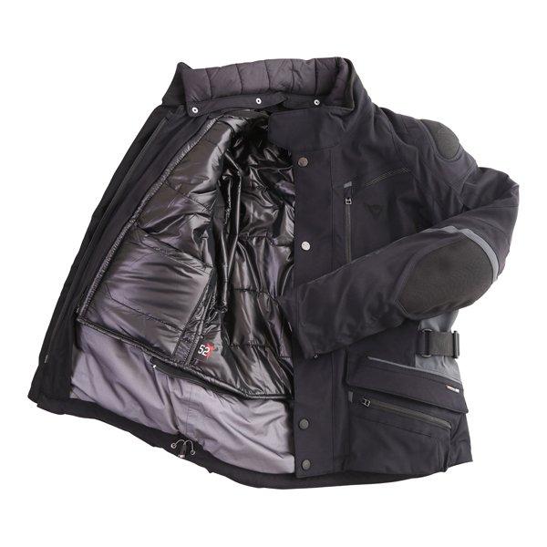 Dainese Carve Master 2 Mens Black GoreTex Waterproof Textile Motorcycle Jacket Inside