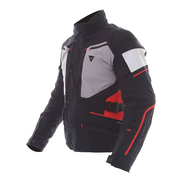 Dainese Carve Master 2 Mens Black Grey Frost Red GoreTex Waterproof Textile Motorcycle Jacket Side