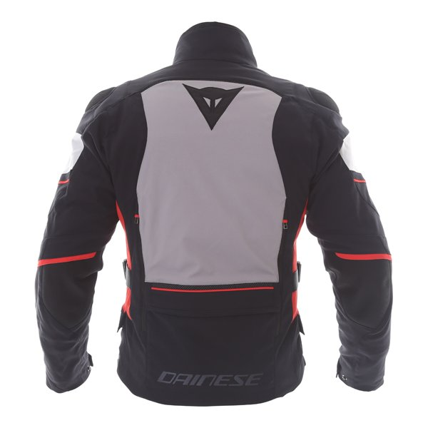 Dainese Carve Master 2 Mens Black Grey Frost Red GoreTex Waterproof Textile Motorcycle Jacket Back
