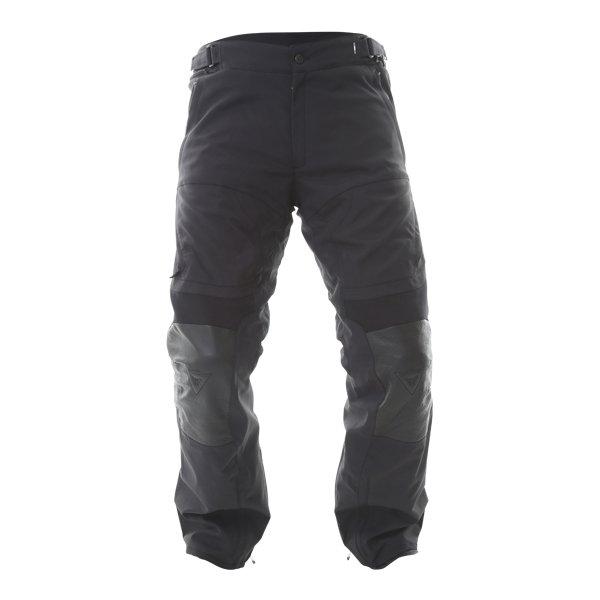 Dainese D-cyclone Mens Black Goretex Waterproof Textile Motorcycle Pants Front