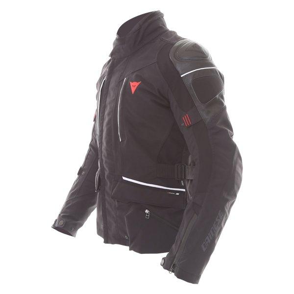 Dainese D-Cyclone Gore-Tex Black White Waterproof Motorcycle Jacket Side