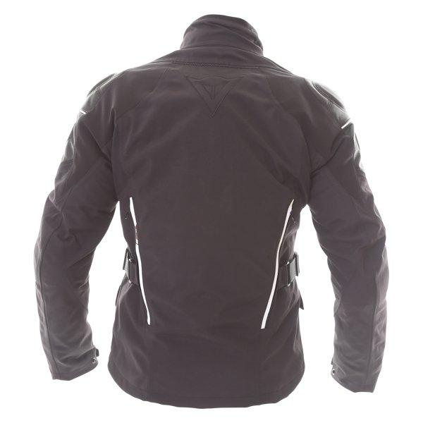 Dainese D-Cyclone Gore-Tex Black White Waterproof Motorcycle Jacket Back