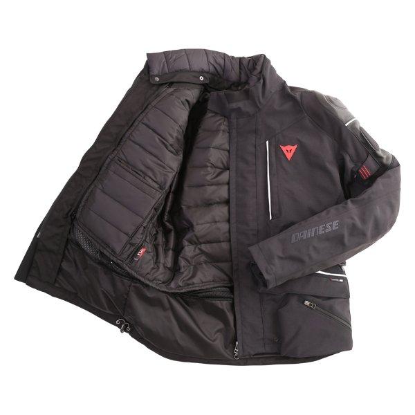 Dainese D-Cyclone Gore-Tex Black White Waterproof Motorcycle Jacket Inside