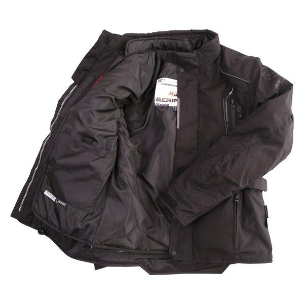 Bering Stomp Goretex Black Waterproof Motorcycle Jacket Inside