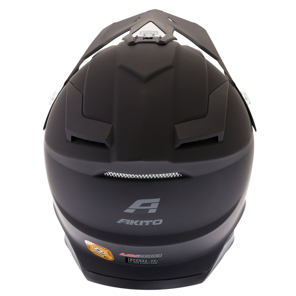 Akito MX Terra Helmet Satin Black Size: XS