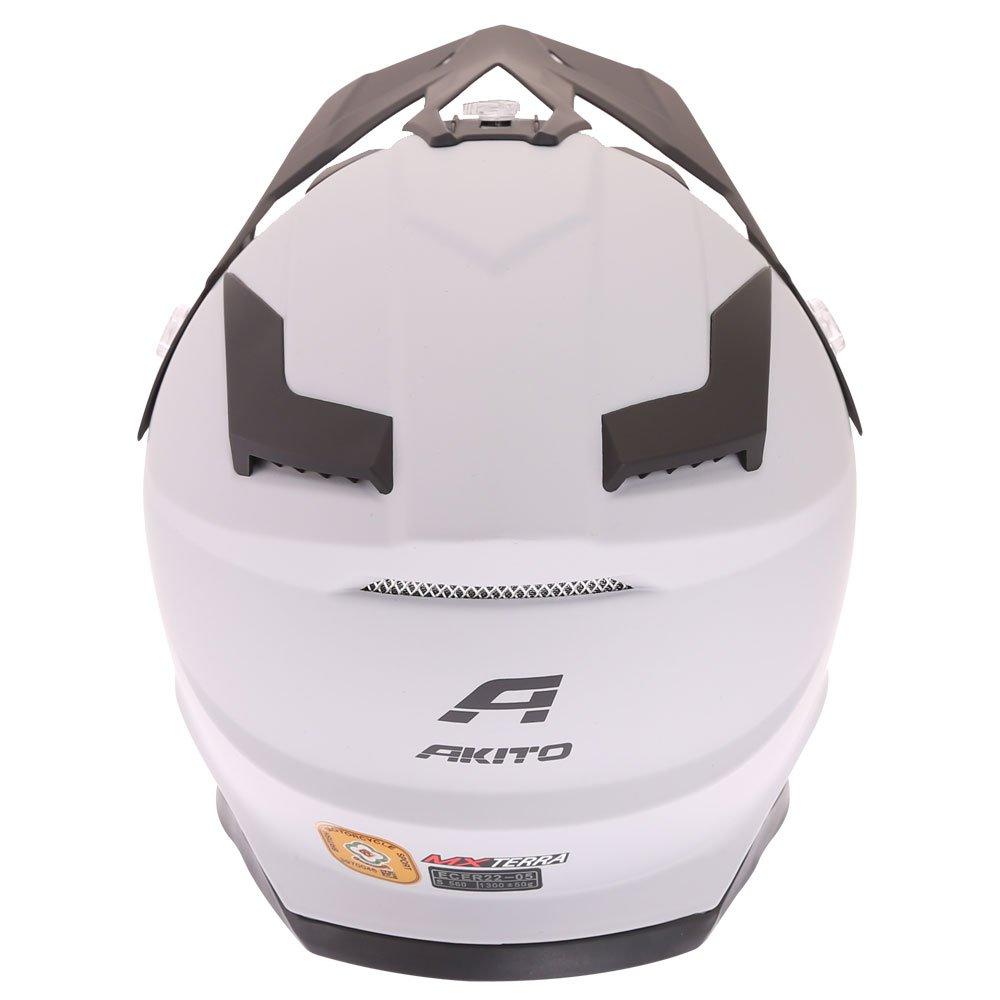 Akito MX Terra Helmet Matt Grey Size: XS