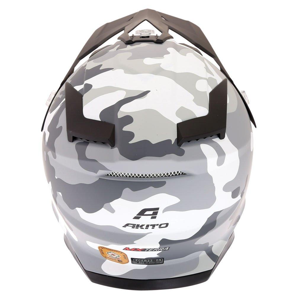 Akito MX Terra Helmet Matt Camo White Size: XS