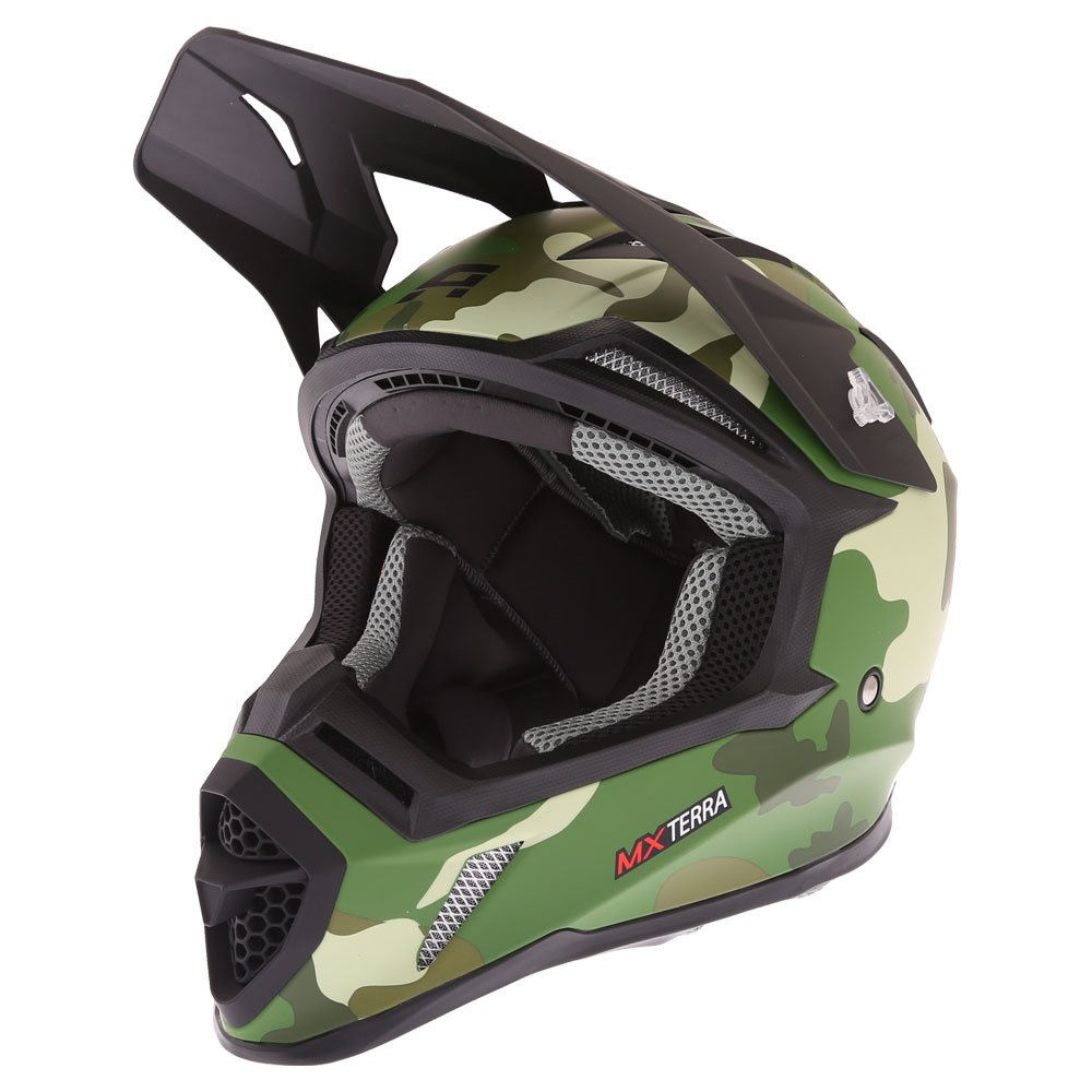 Akito MX Terra Helmet Matt Camo Green Size: XS