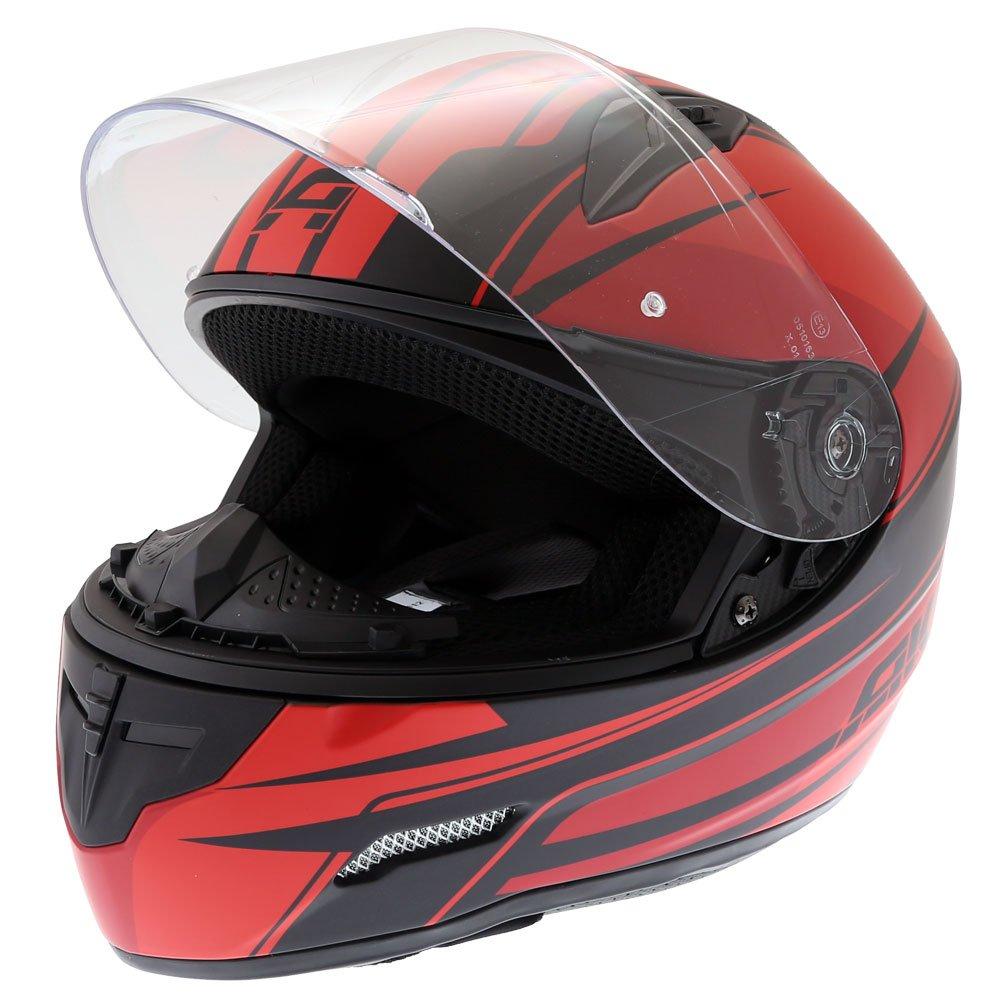 Akito Street Helmet Matt Black Red Size: XS