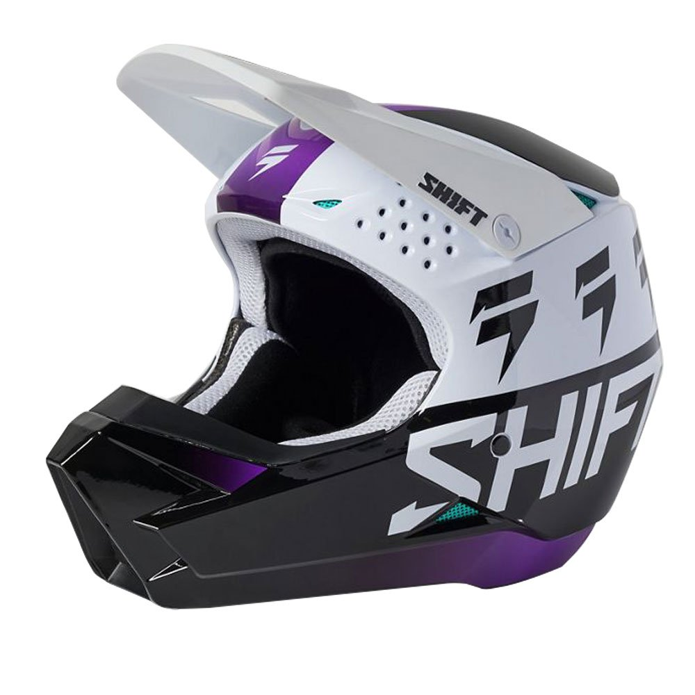 White Label UV Youth Helmet White Ultvt Kids Motocross Helmets