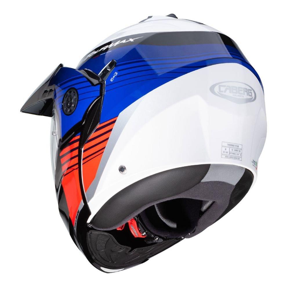 Caberg Tourmax Titan Helmet White Blue Red Size: S