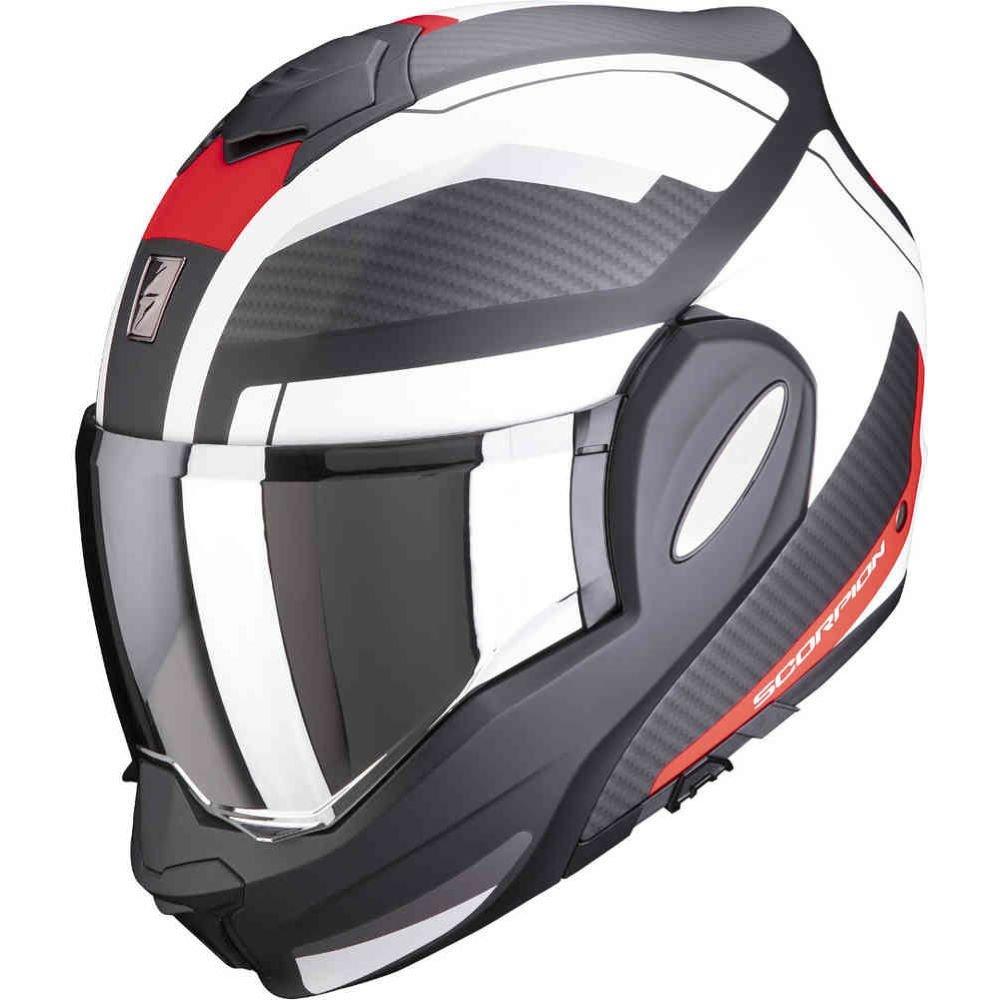 Exo-Tech Trap Helmet Black Red White Scorpion Helmets