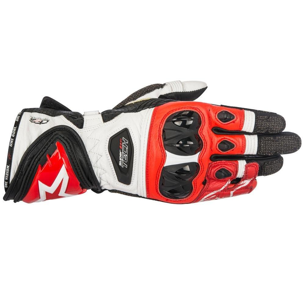 Alpinestars Supertech Gloves Black White Red Size: Mens UK - S