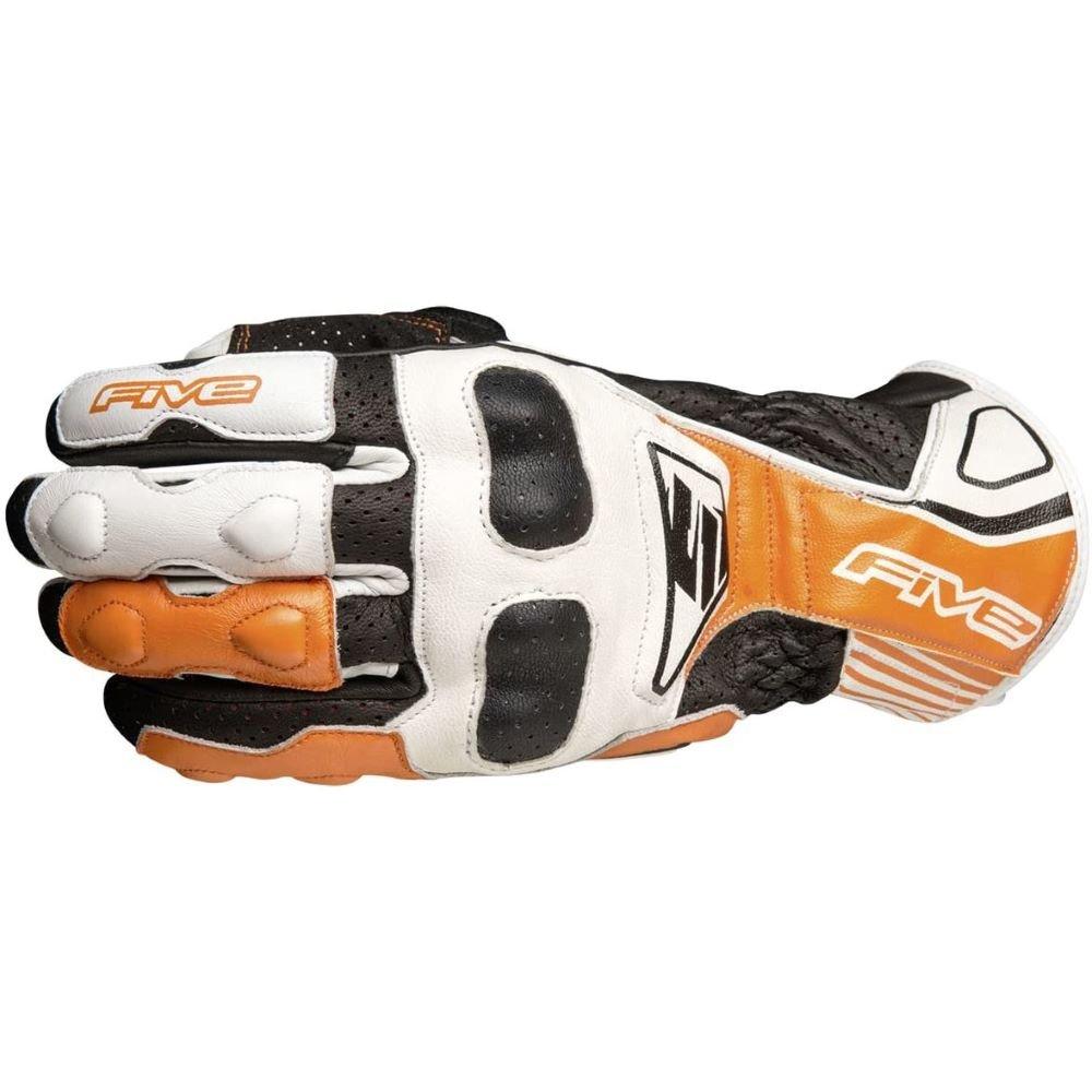 Five RFX4 Replica Adult Gloves White Orange Mens - M