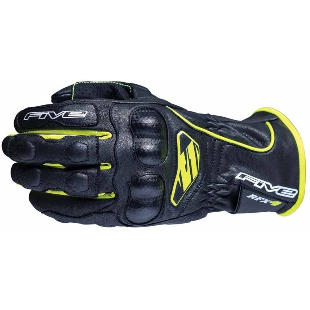 RFX4 Replica Adult Gloves Black Fluo Yellow Five Gloves