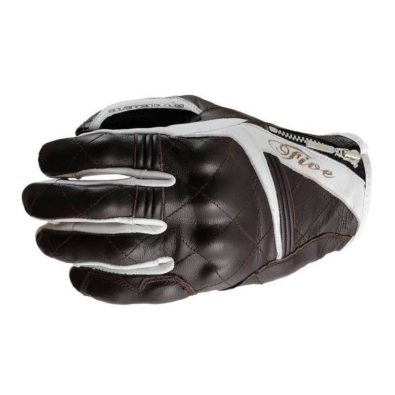 Sport City Womens Adult Gloves Brown White Five Gloves