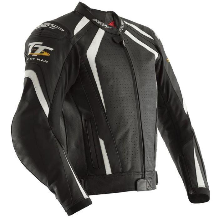 IOM TT Grandstand Jacket Black White