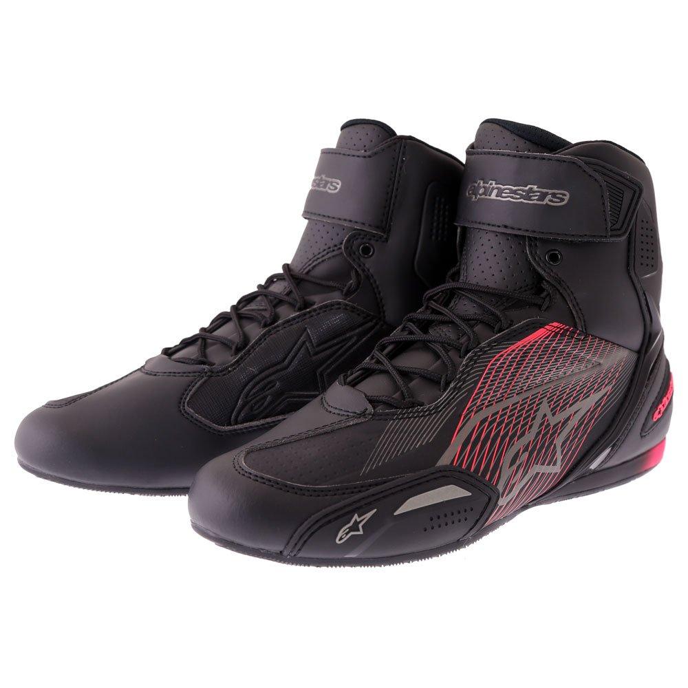 Stella Faster-3 Shoes Black Gun Metal Diva Pink Alpinestars Ladies