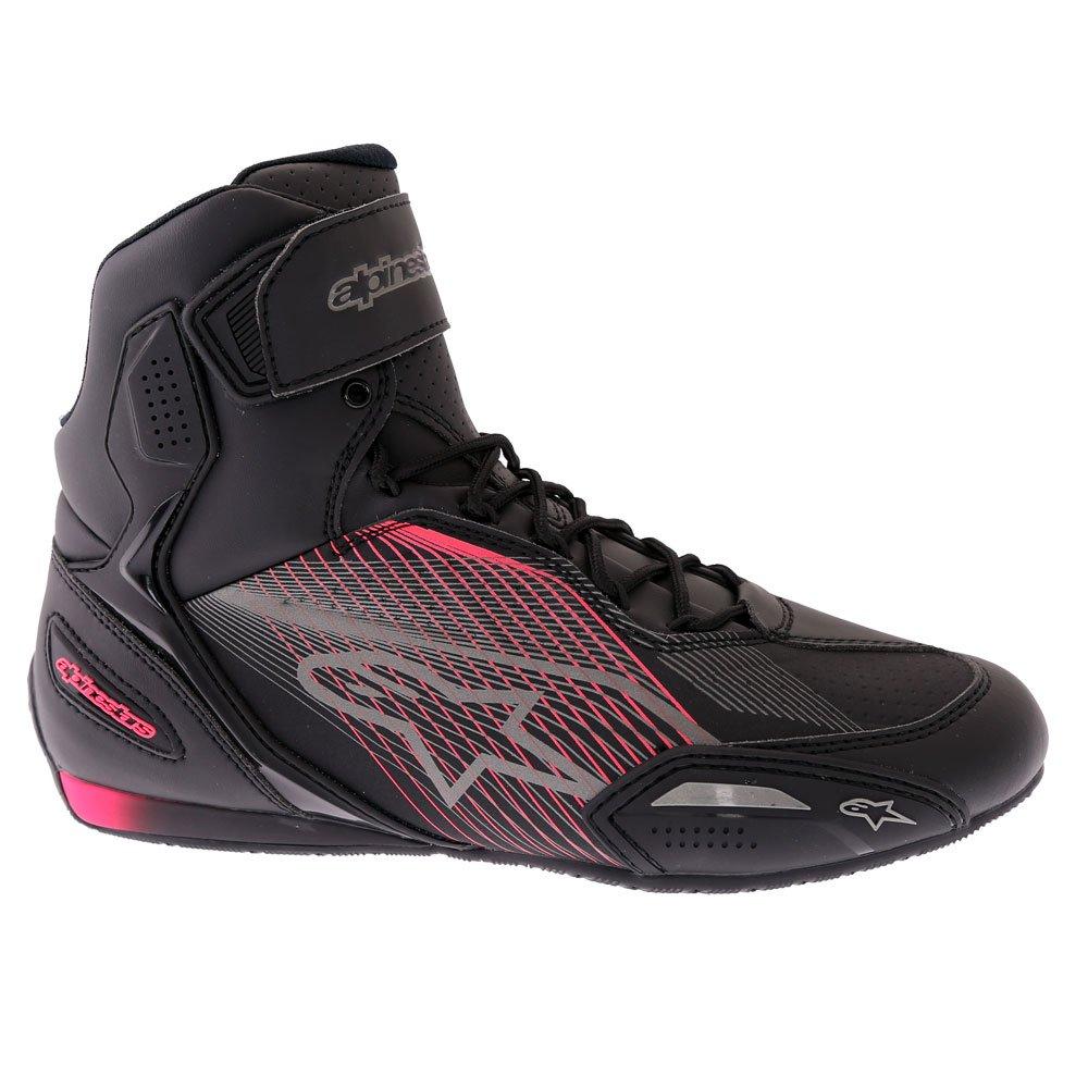 Alpinestars Stella Faster-3 Shoes Black Gun Metal Diva Pink Size: UK 2