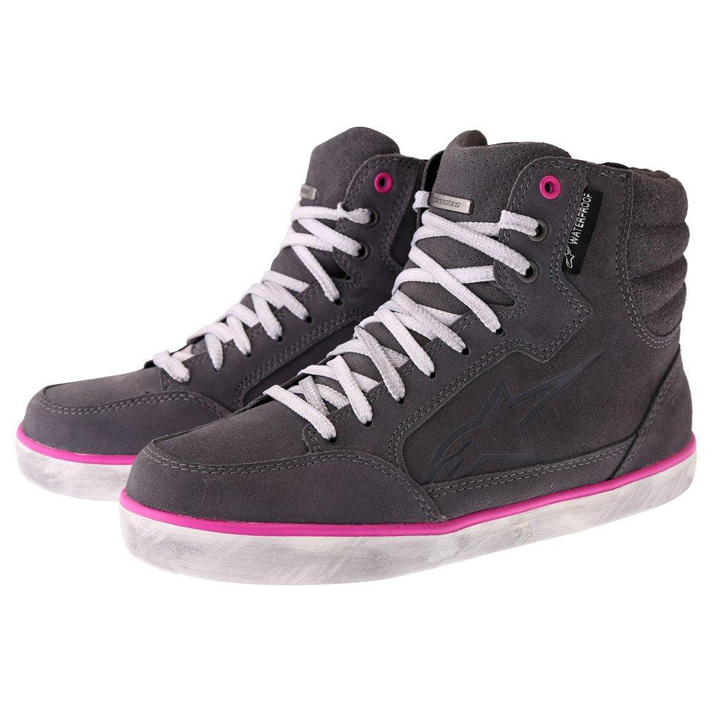 Alpinestars J-6 Waterproof Womens Shoes Light Grey Fuchsia Size: UK 3