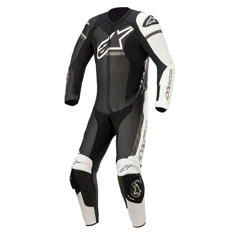 GP Force Phantom Suit Black White Metallic Grey Leather Suits