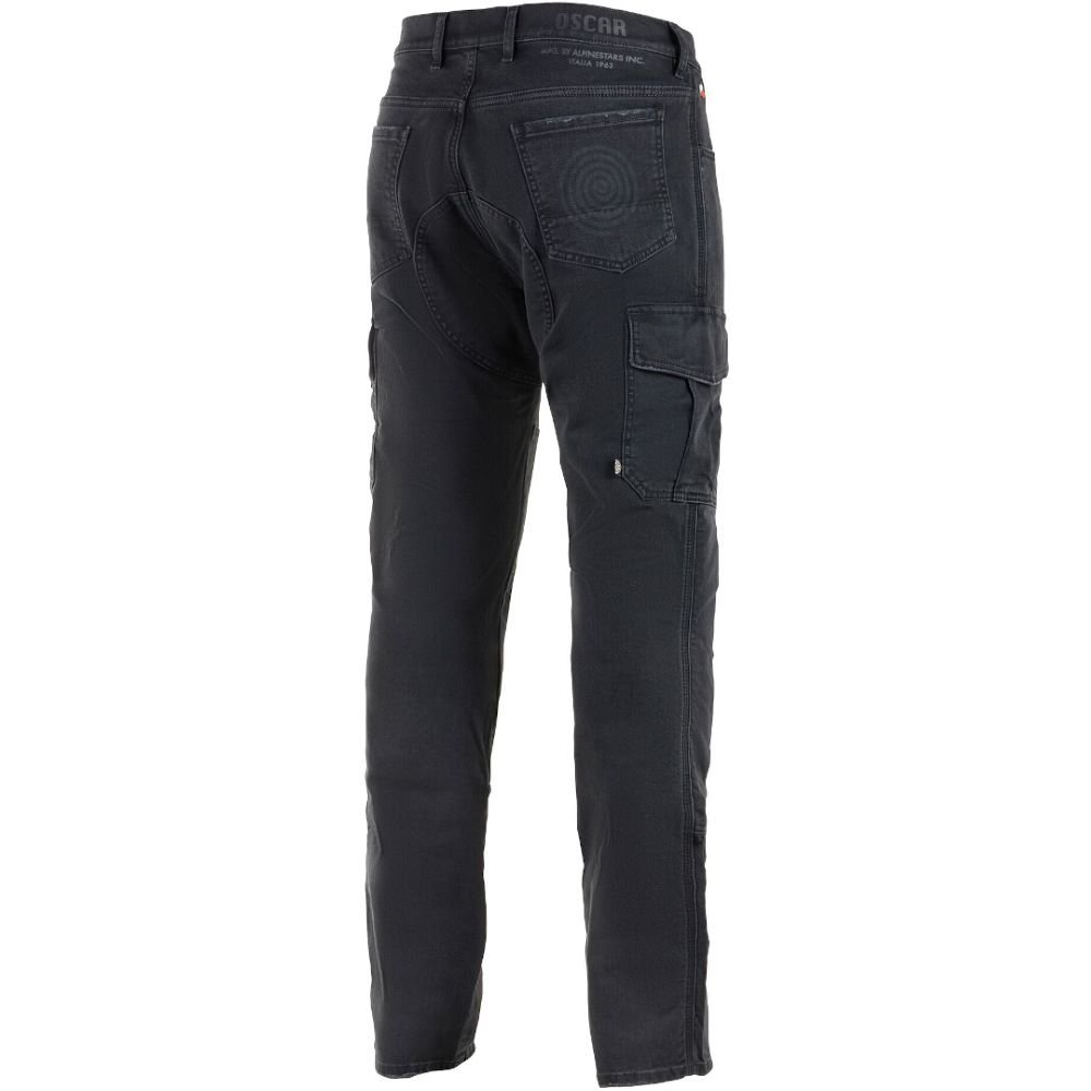 Alpinestars Barton Riding Cargo Pants Rinse Plus Black Size: Mens UK - 28 Fit: Reg