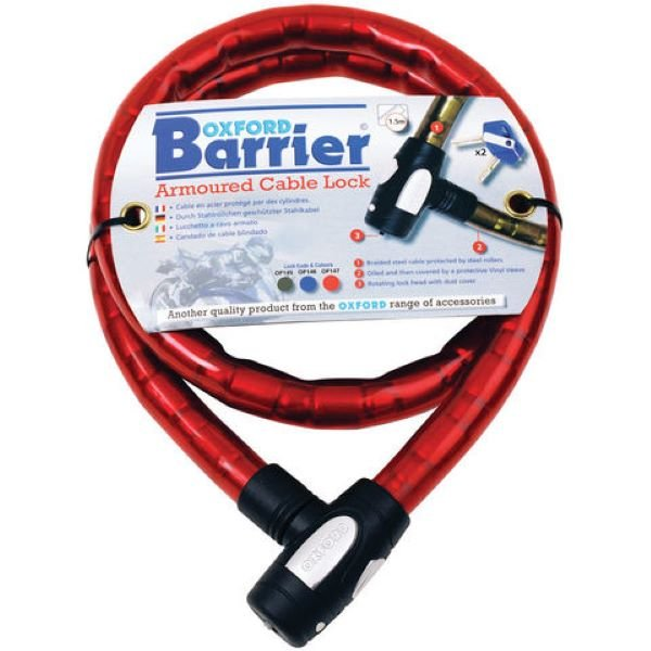 1.4m x 25mm Barrier Lock Red Oxford Products